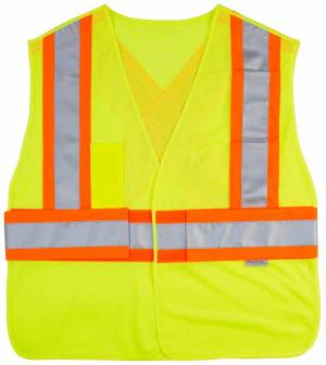 HV 5 Point Tearaway Mesh Vest With Contrast Reflective Material