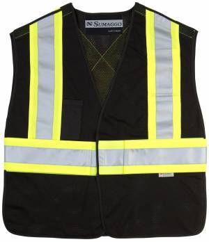 5 Point Tearaway Mesh Vest With High Visibility Contrast Reflective Material