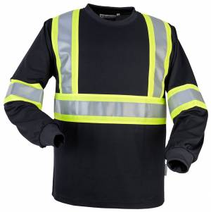 Safety Wicking Long Sleeve T-shirt with 4