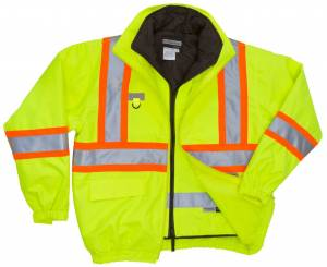 51535-5804 High Visibility 5-IN-1 Jacket with 3M Thinsulate Insulation Inner Jacket
