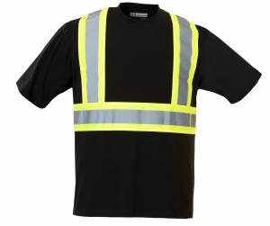 Safety 100% Cotton Short Sleeve T-Shirt with 4