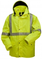 High Visibility 3/4 Length Rain Jacket