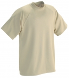Moisture Wicking Mock Neck Short Sleeve T-Shirt