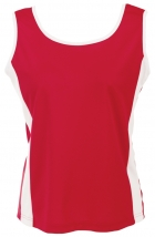 Quick Dry Ladies Tank Top With Side Contrast